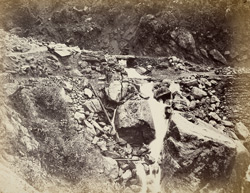 Darjeeling Hill Road. Damage of June 13th, 1865, at 3 mile above Kursiong.